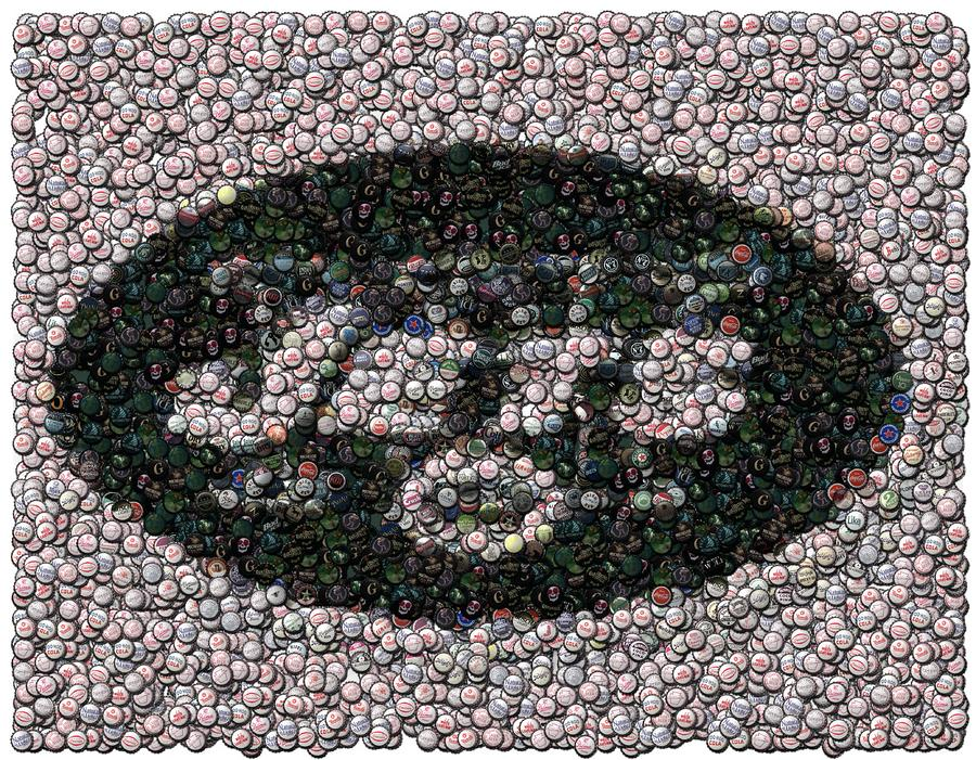 New York Jets Bottle Cap Mosaic Digital Art