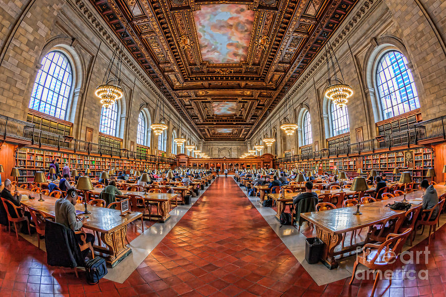 New York Public Library Main Reading Room I Photograph  - New York Public Library Main Reading Room I Fine Art Print