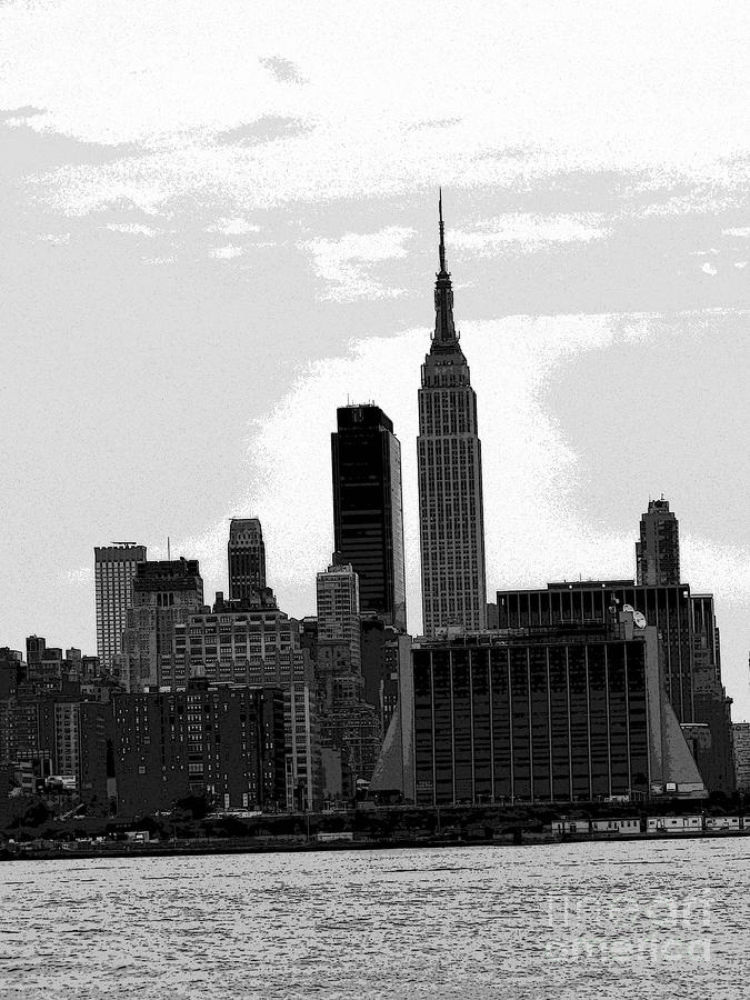 new york skyline with the empire state building by david. Black Bedroom Furniture Sets. Home Design Ideas