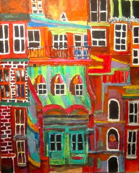 New York City Painting - New York Tenement 2 by Michael Litvack