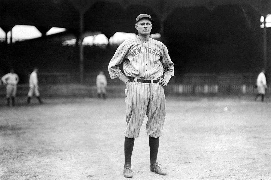 New York Yankee Wally Pipp, C. 1917 Photograph