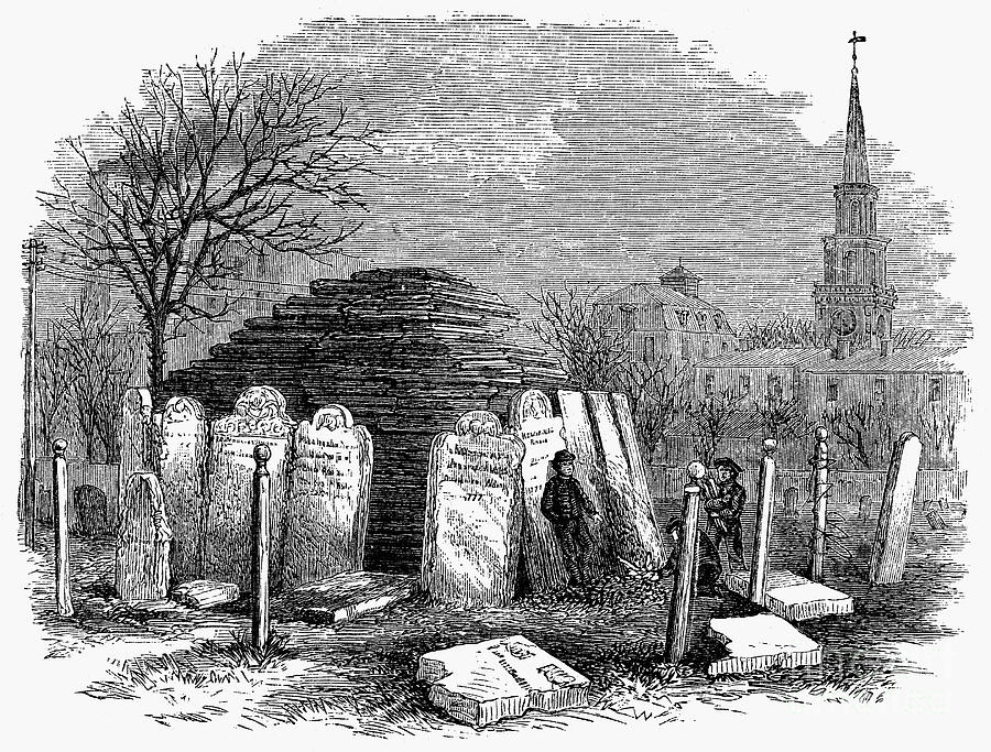 Newark: Cemetery, 1876 Photograph