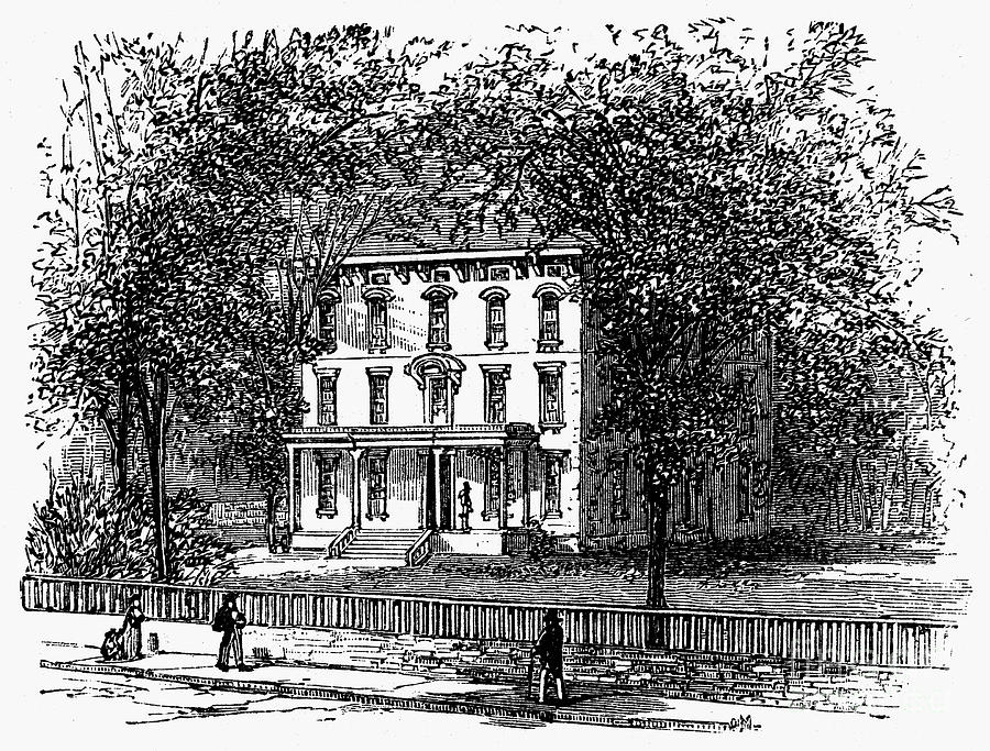 Newark: Mansion, 1876 Photograph  - Newark: Mansion, 1876 Fine Art Print