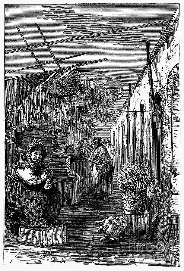 Newark: Market, 1876 Photograph