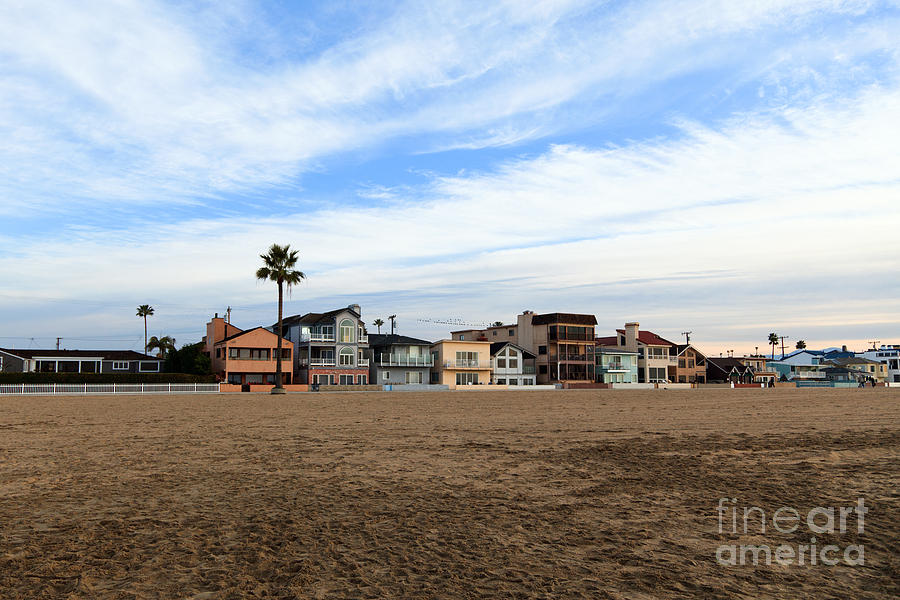 Newport Beach Oceanfront Houses Photograph