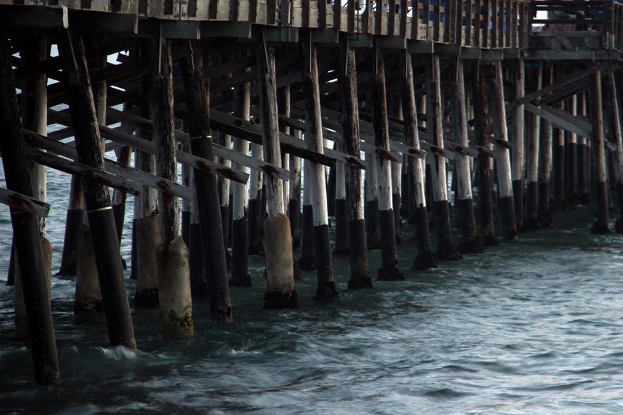 Newport Beach Pier Close Up Photograph