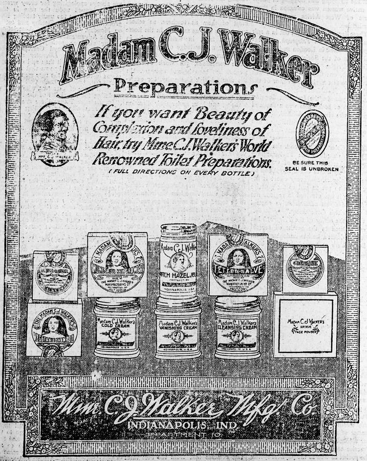 Newspaper Ad For Madam C.j. Walker Photograph
