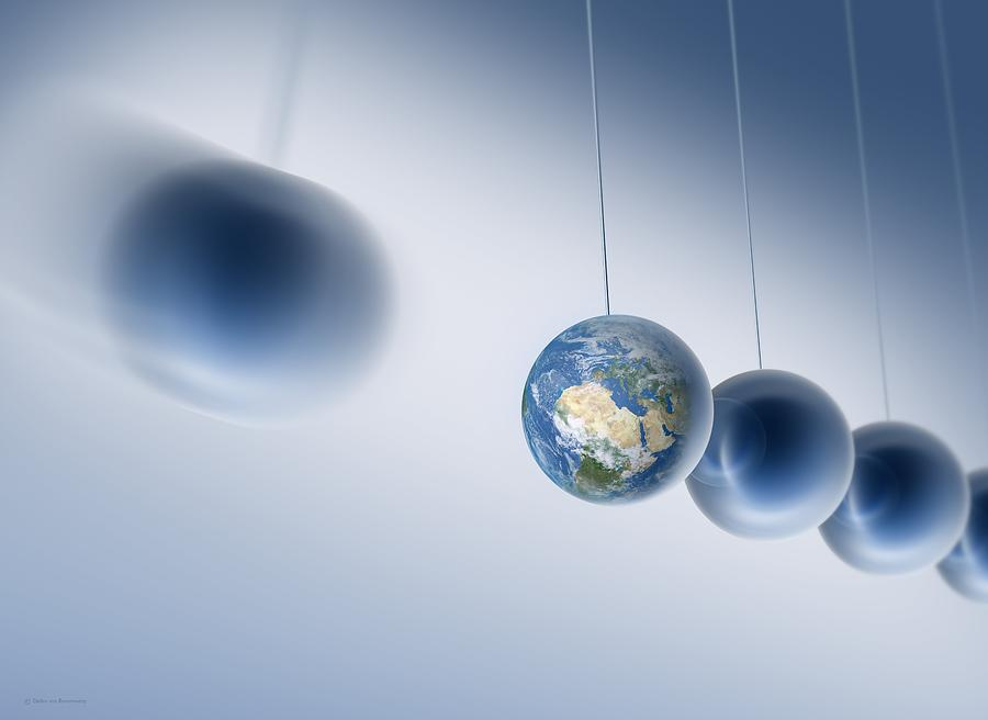 Newtonian Earth, Conceptual Artwork Photograph