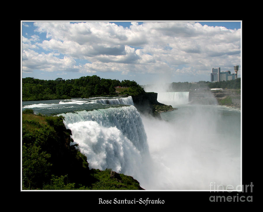 Niagara Falls American And Canadian Horseshoe Falls Photograph  - Niagara Falls American And Canadian Horseshoe Falls Fine Art Print