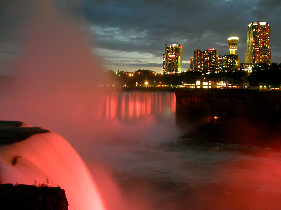 Niagara Falls At Night Photograph