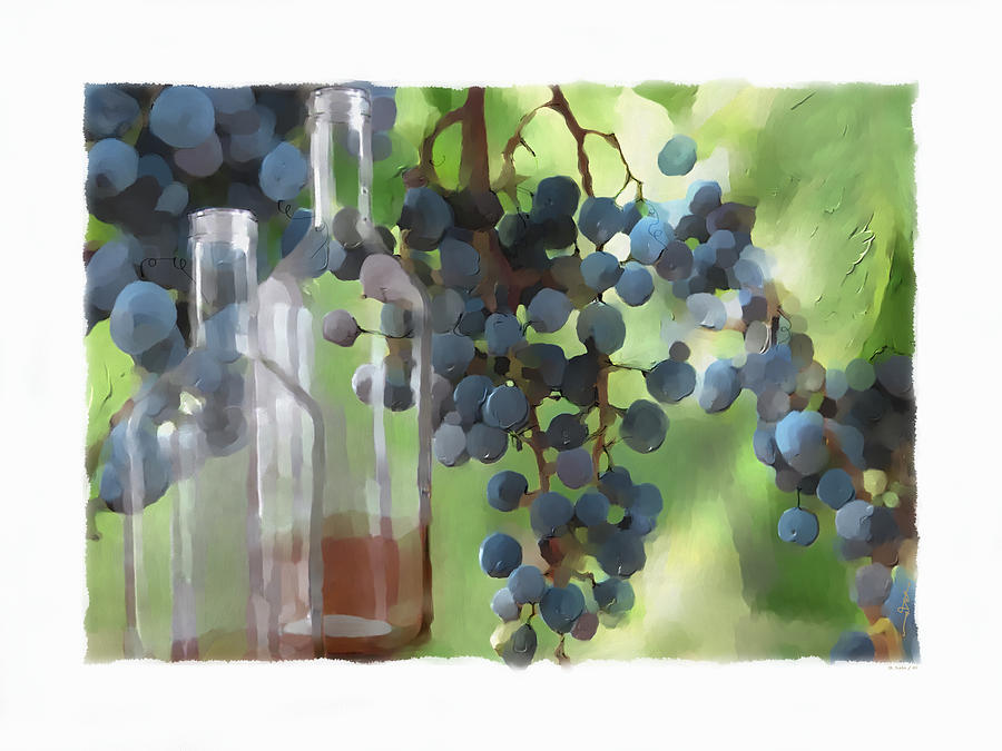 Niagara Peninsula Wine Country Painting  - Niagara Peninsula Wine Country Fine Art Print