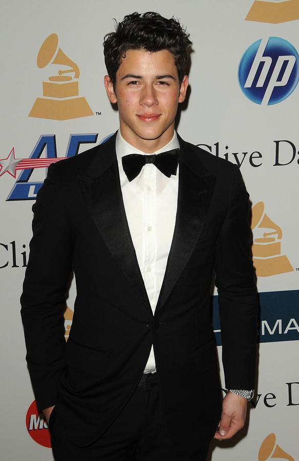 Nick Jonas In Attendance For Clive Photograph  - Nick Jonas In Attendance For Clive Fine Art Print
