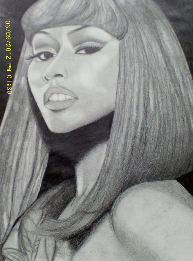 how to draw nicki minaj easy