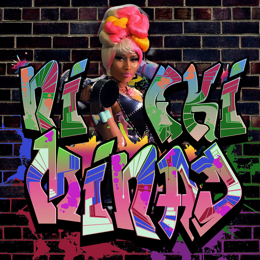 Nicki Minaj Graffiti By Gbs Digital Art