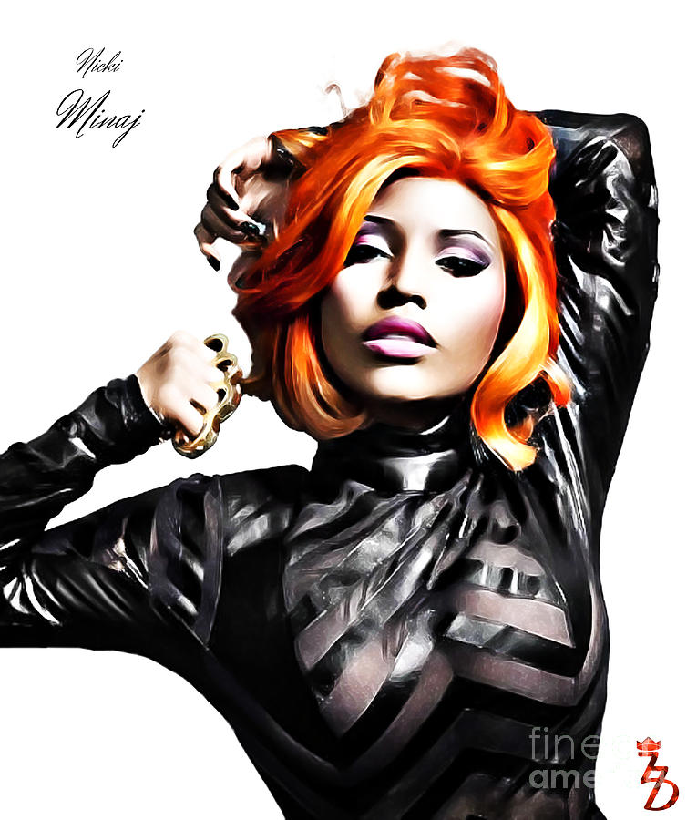 Nicki Minaj Digital Art  - Nicki Minaj Fine Art Print