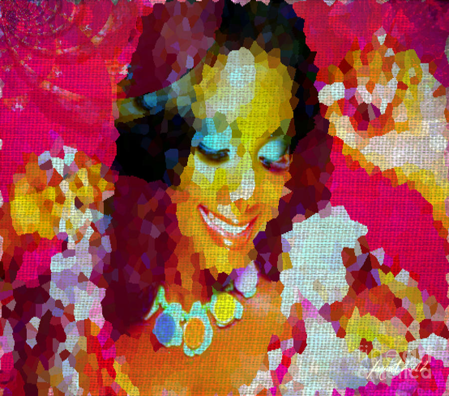 Nigerian Girl Mixed Media  - Nigerian Girl Fine Art Print