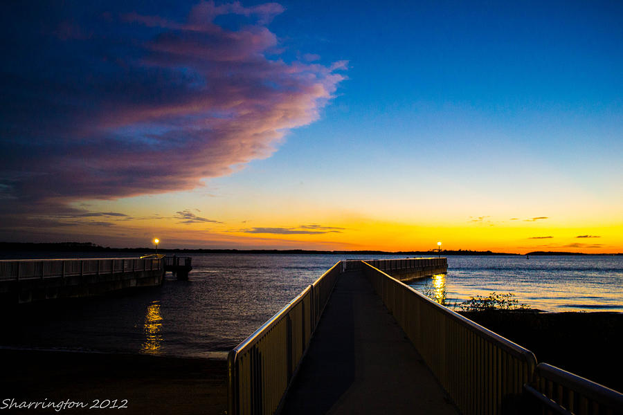 Pier Photograph - Night Approaches by Shannon Harrington