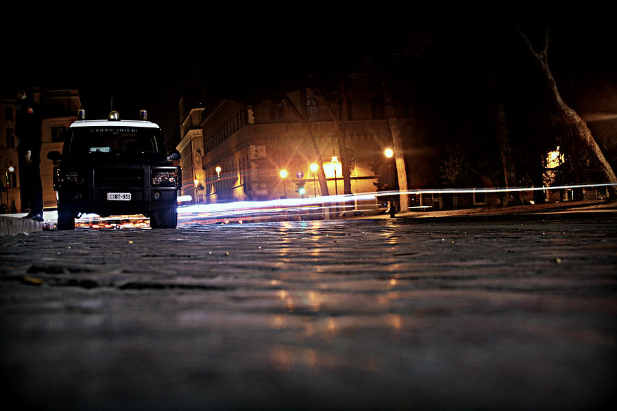 Police Photograph - Night Cops by Kevin Flynn