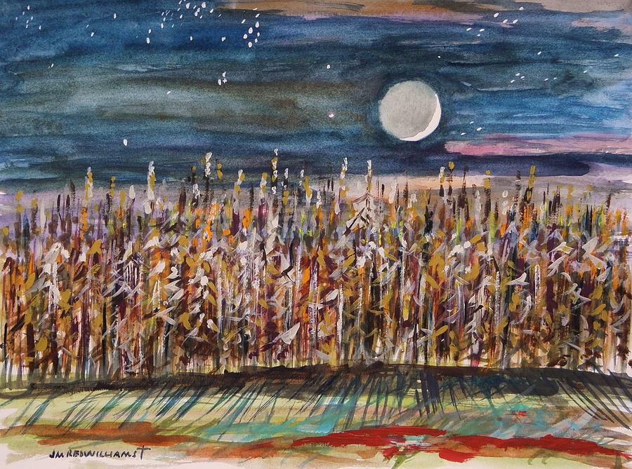 Night In The Cornfield Painting  - Night In The Cornfield Fine Art Print