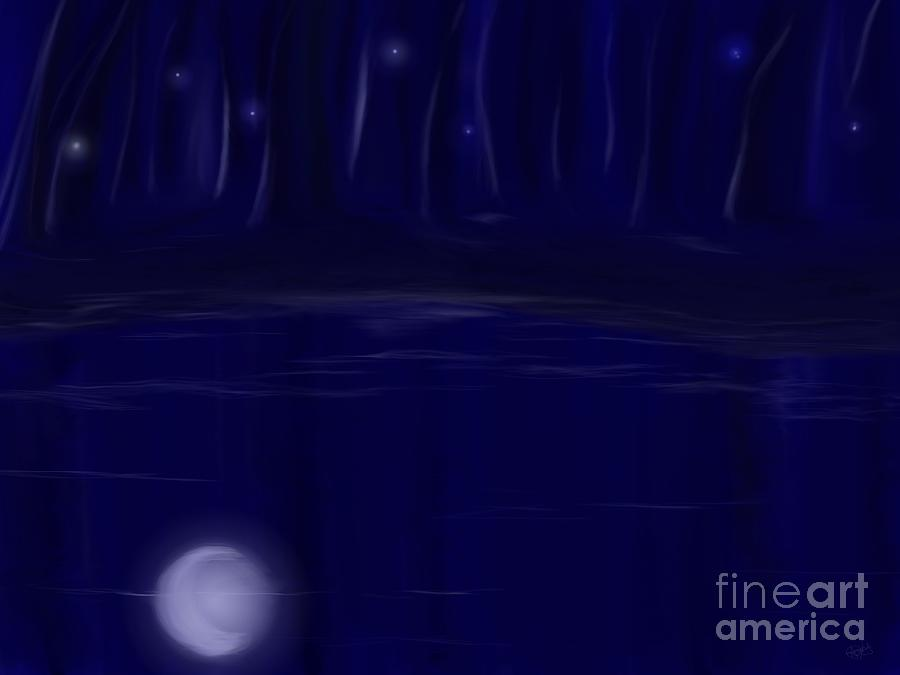 Night Lights Painting  - Night Lights Fine Art Print