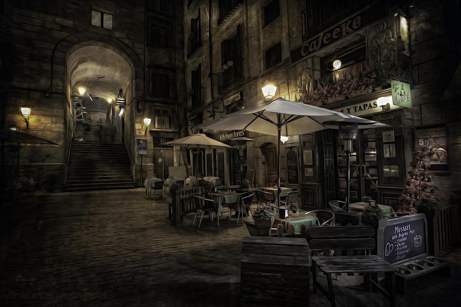 Night Plaza Photograph