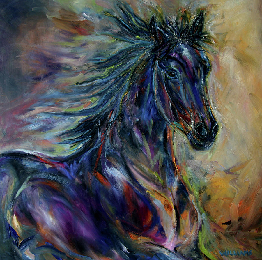 Night Rider Painting  - Night Rider Fine Art Print