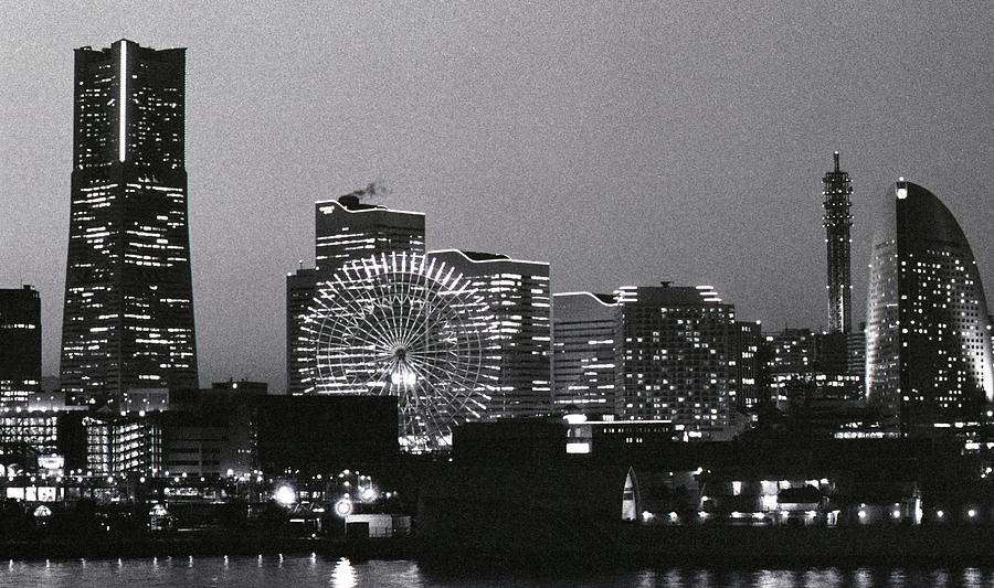 Night Scene Of Yokohama Photograph  - Night Scene Of Yokohama Fine Art Print
