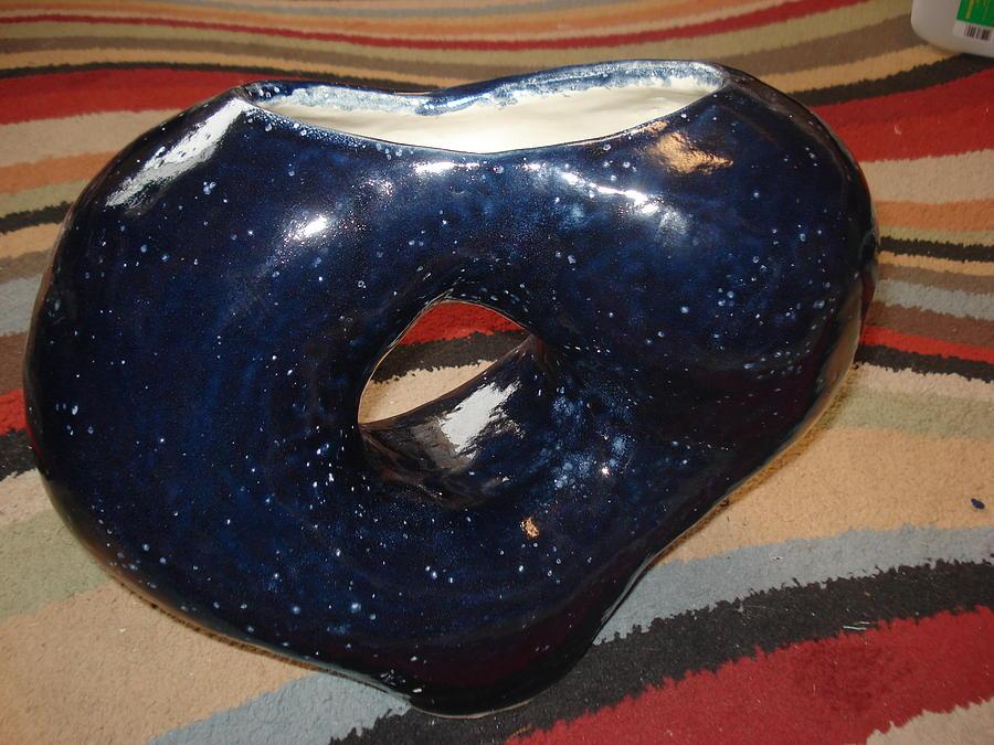 Night Sky Coil Pot Ceramic Art
