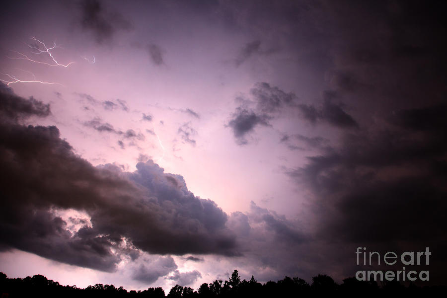 Night Storm Photograph  - Night Storm Fine Art Print