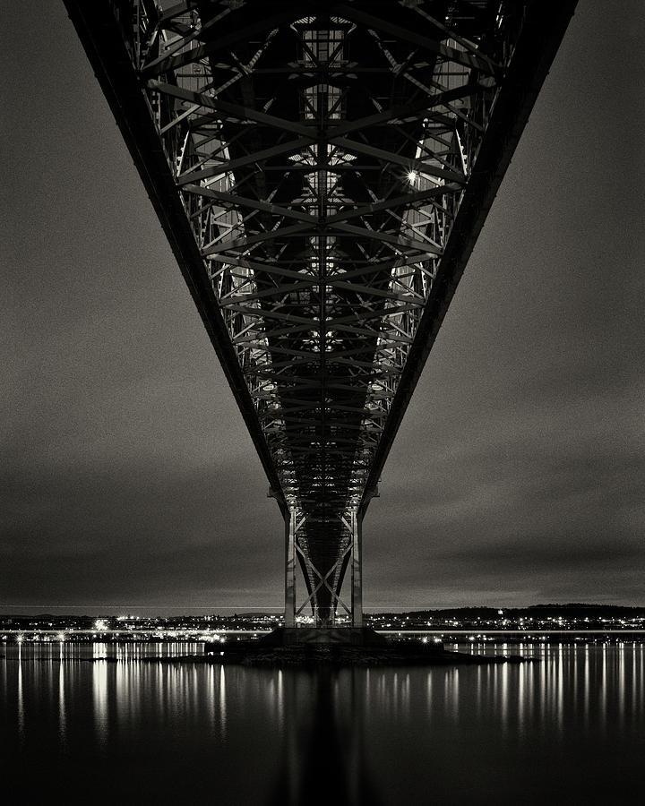 Night View Of Forth Road Bridge Photograph