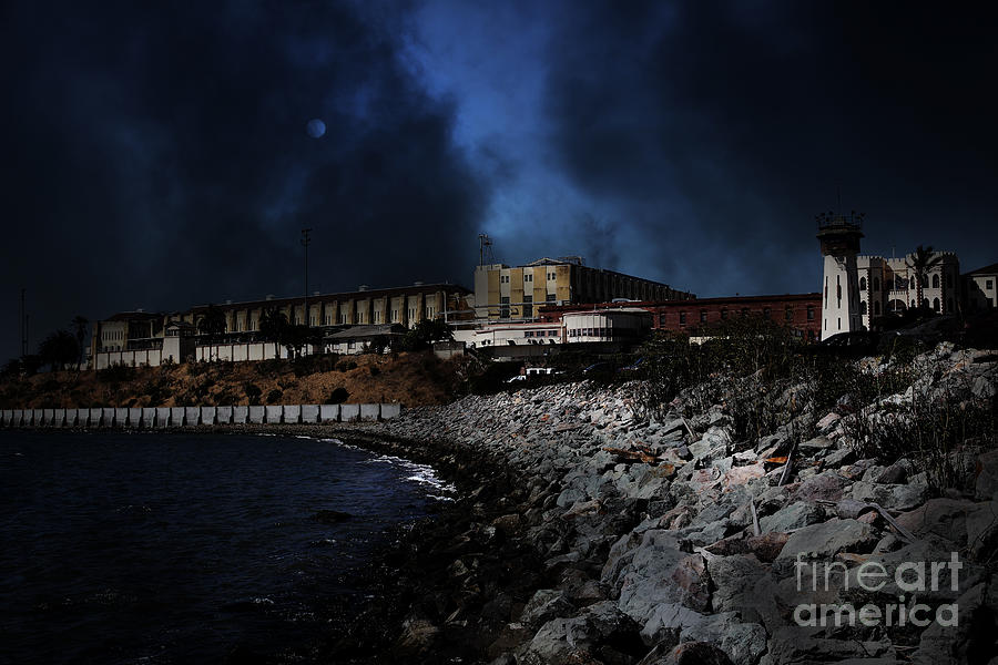 Nightfall Over Hard Time - San Quentin California State Prison - 5d18454 Photograph