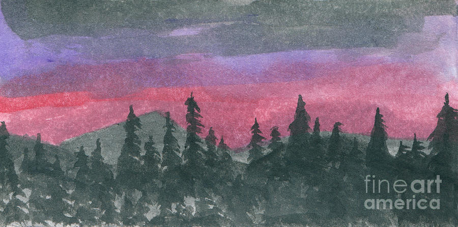 Nightfall Painting  - Nightfall Fine Art Print