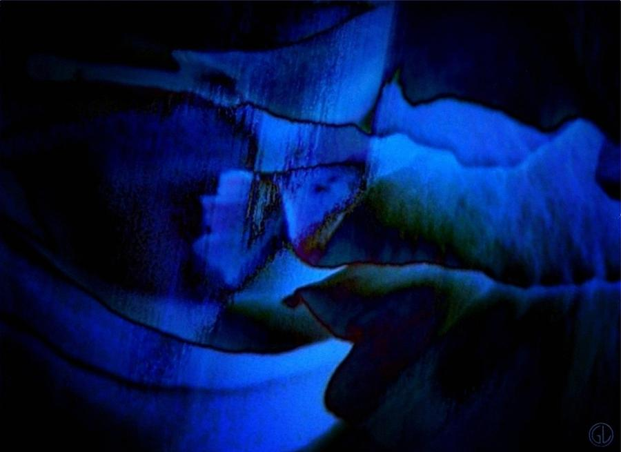 Abstract Digital Art - Nightly Blues by Gun Legler