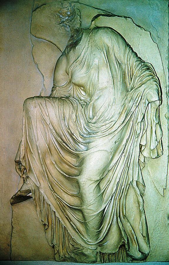 Nike Statue Photograph - Nike Unloosing Her Sandal by Andonis Katanos