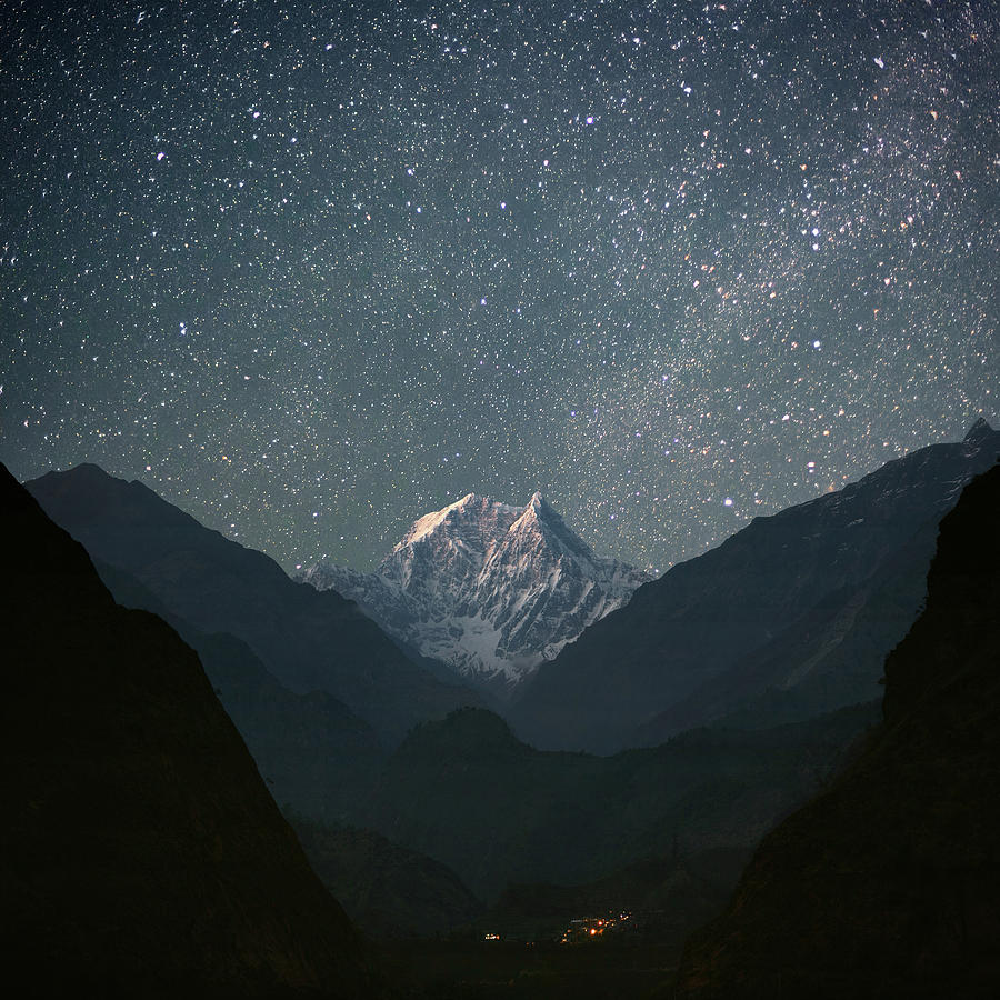 Nilgiri South (6839 M) Photograph  - Nilgiri South (6839 M) Fine Art Print