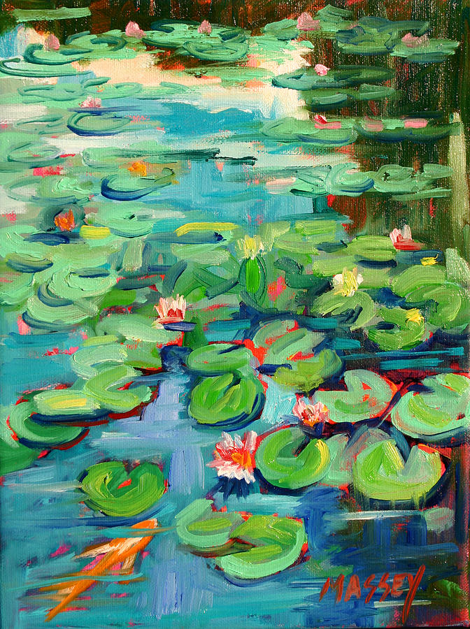 Water Lily Painting - Niloofar by Marie Massey