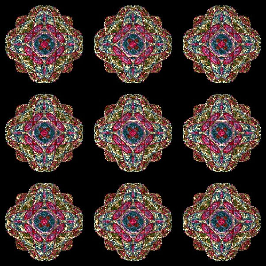 Nine Medallions Digital Art