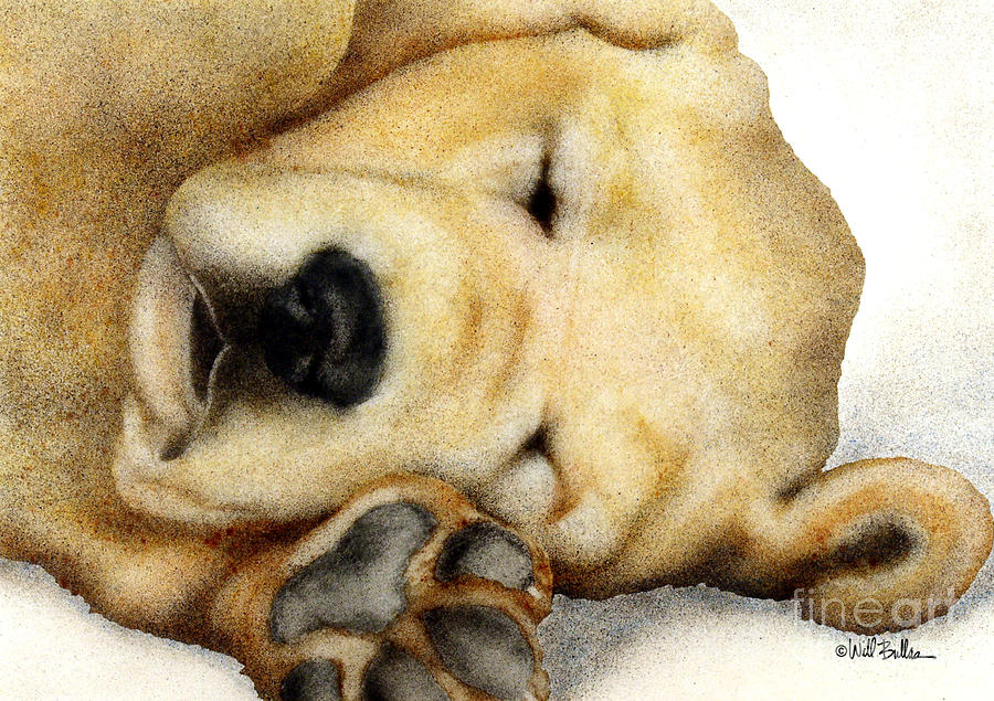 Nipper Nap... Painting  - Nipper Nap... Fine Art Print