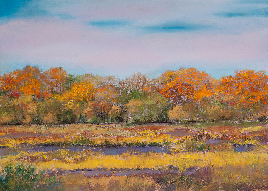 Nisqually Wildlife Refuge In Autumn Painting  - Nisqually Wildlife Refuge In Autumn Fine Art Print