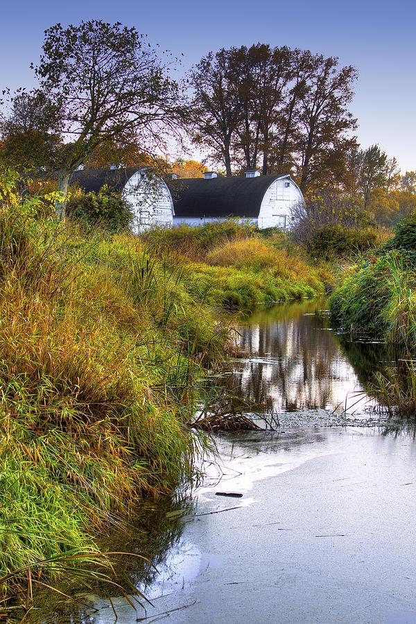 Nisqually Wildlife Refuge P21 The Twin Barns Photograph