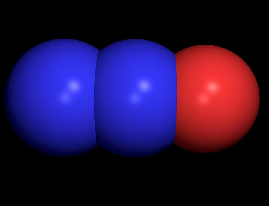 Nitrous Oxide Molecule  N2o Molecule