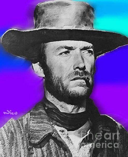 Nixo Clint Eastwood 1 Painting