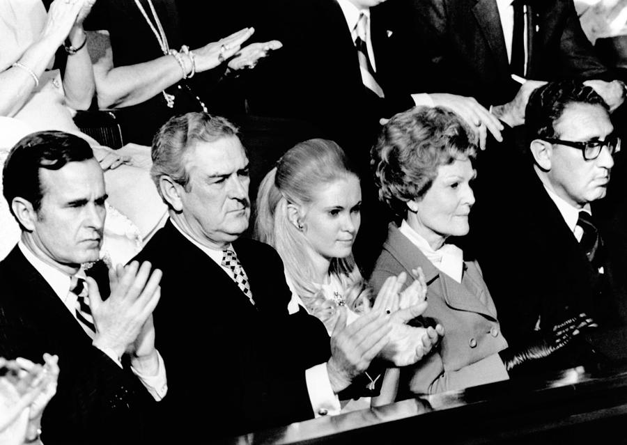 Nixon Family And Administration Listen Photograph