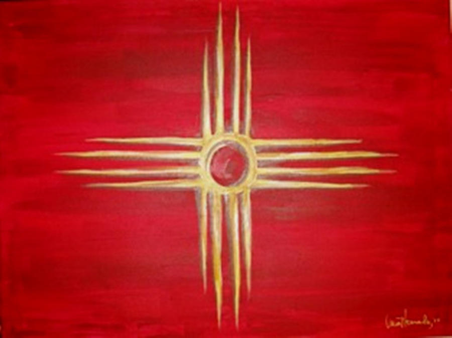 Nm Zia Painting - Nm Zia Fine Art PrintZia Symbol Art