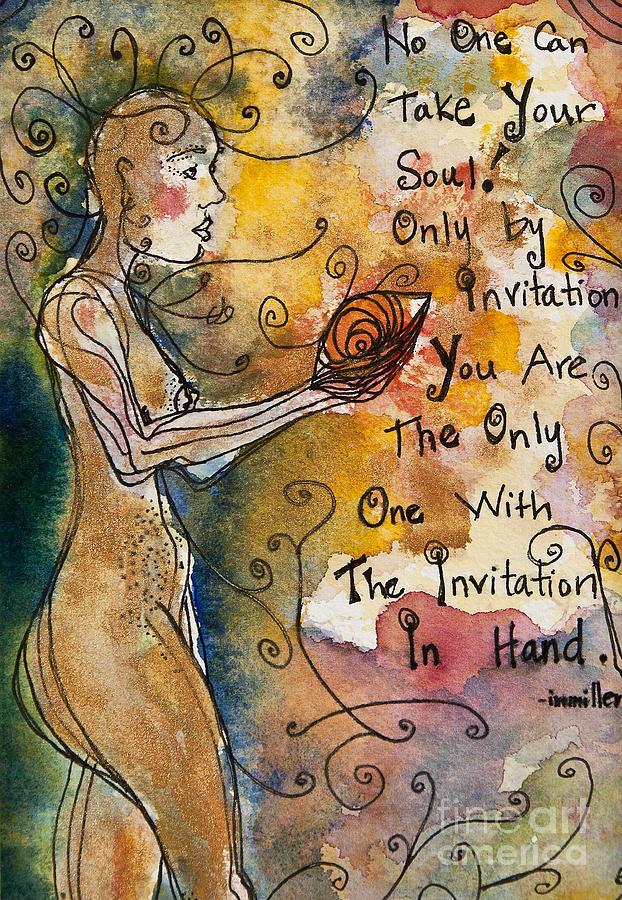No One Can Take Your Soul Painting  - No One Can Take Your Soul Fine Art Print