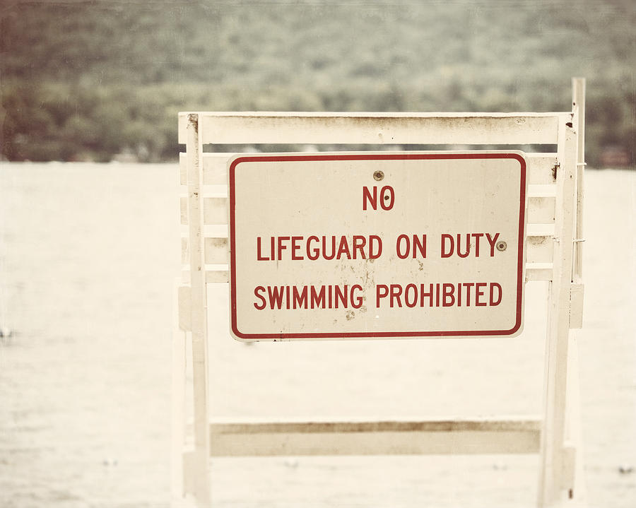 No Swimming Photograph  - No Swimming Fine Art Print