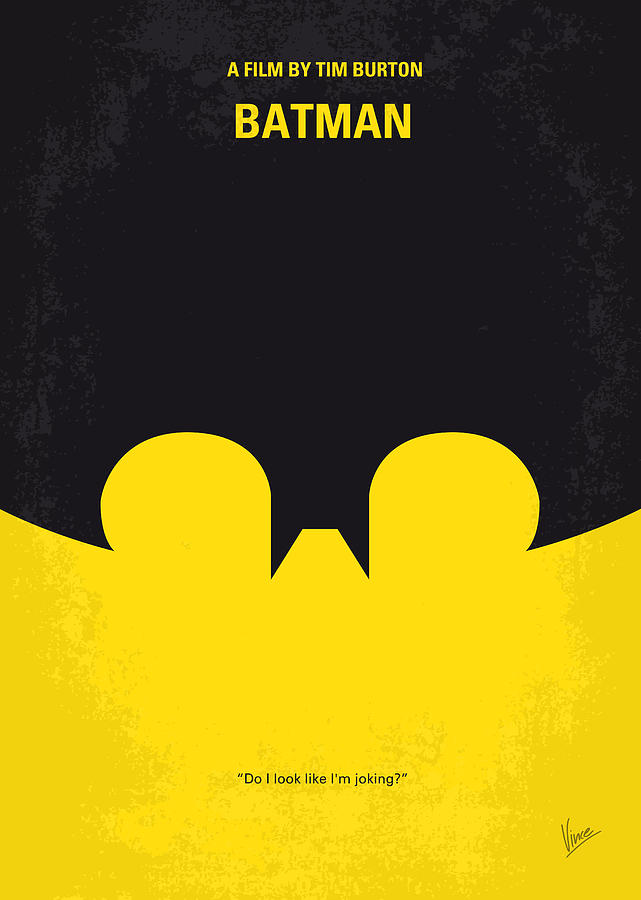 No008 My Batman Minimal Movie Poster Digital Art