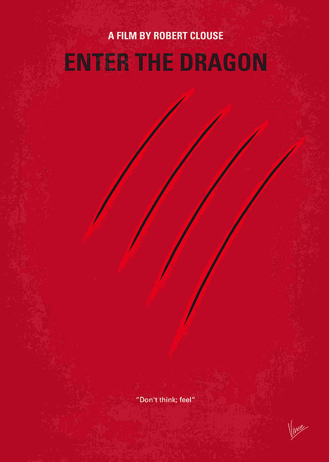 No026 My Enter The Dragon Minimal Movie Poster Digital Art