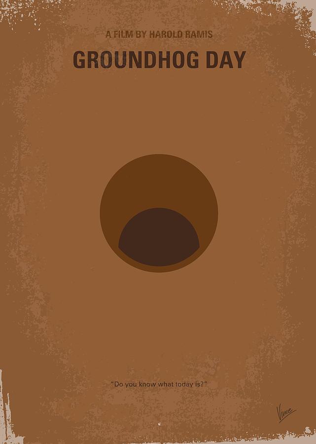 No031 My Groundhog Minimal Movie Poster Digital Art