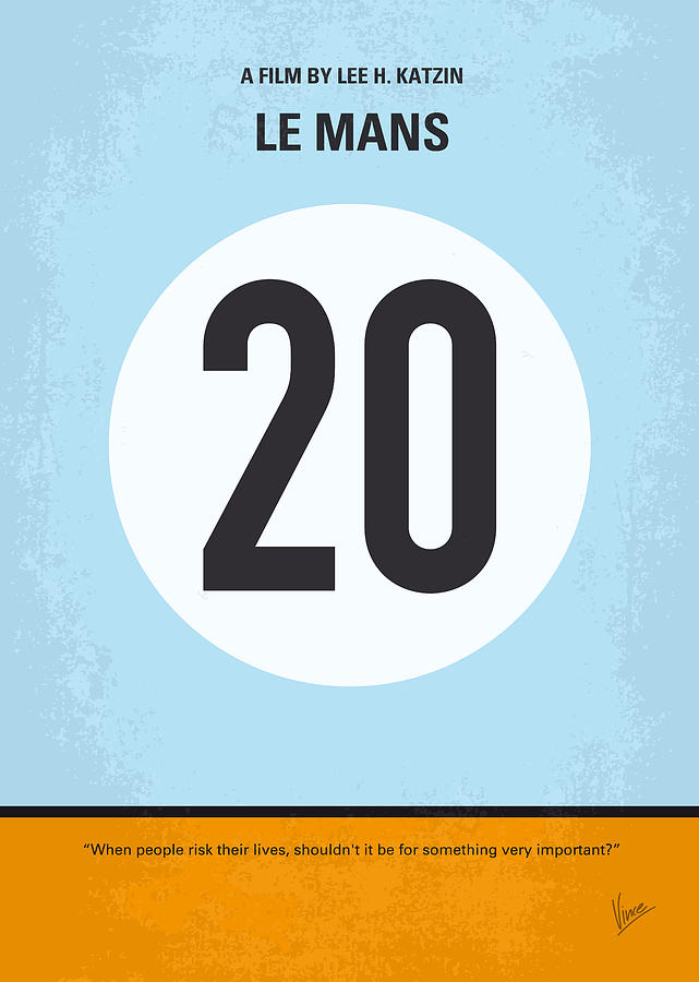 No038 My Le Mans Minimal Movie Poster Digital Art  - No038 My Le Mans Minimal Movie Poster Fine Art Print